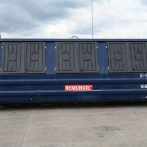 21m3 lukket maxi-container