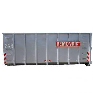 30m3 åben maxi-container