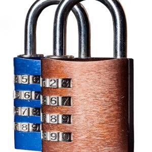 Hængelås med 4-cifret kode