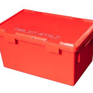 21L rød boks til farligt affald
